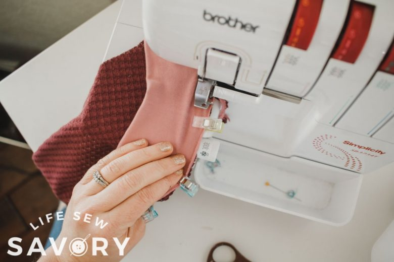 stretch and sew cuff to sleeve