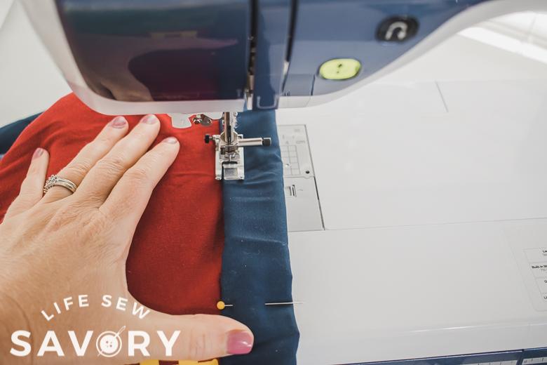 sew close to folded binding