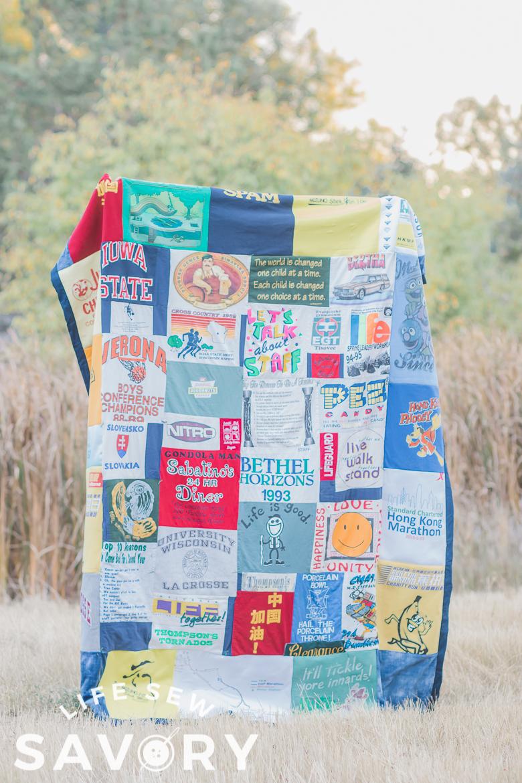 tshirt quilt sewing tutorial