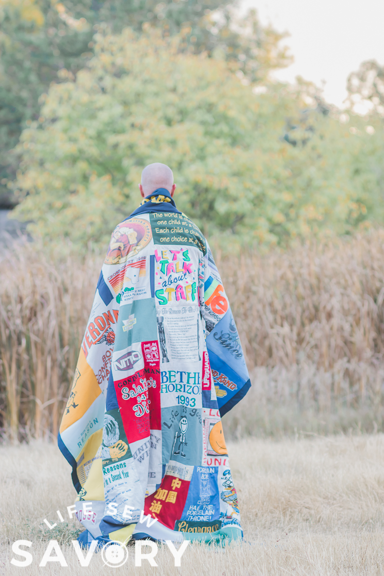 how to sew a t-shirt quilt