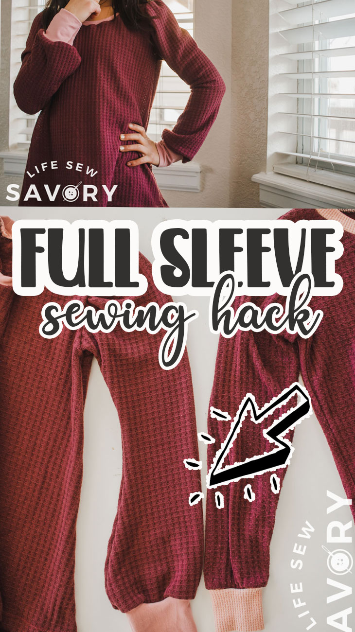 slash and spread sleeve hack. Use a favorite sleeve pattern to create this fun full sleeve look with a little creative sewing hack. Beautiful sleeves with a quick sewing hack.