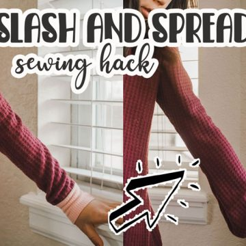 slash and spread sewing hack and tutorial